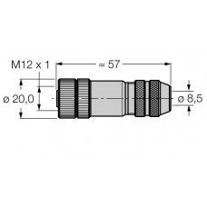 Conector Hembra confeccionable TURCK BMWS8151-8.5