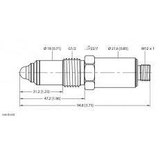 Sensor capacitivo con límite de nivel TURCK NCLS-30-UP6X-H1141
