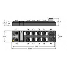 Módulo E/S multiprotocolo compacto para Ethernet TBEN-L1-16DIP
