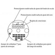 CONVERTIDOR CABEZAL TEMPERATURA RTD/TC MCU-2